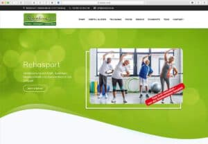 screenshot der Website www.rehaline-ev.de