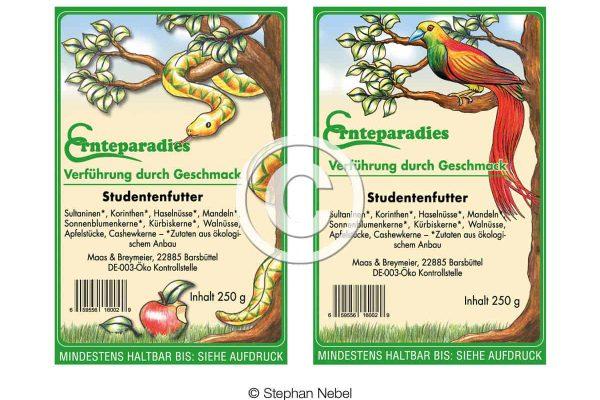 Etiketten für Studentenfutter